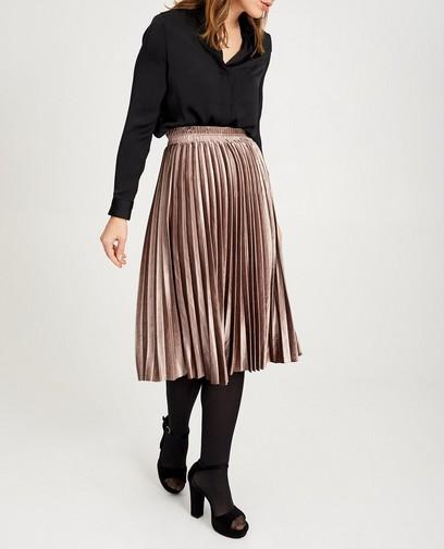 Bruine rok van fluweel Ella Italia