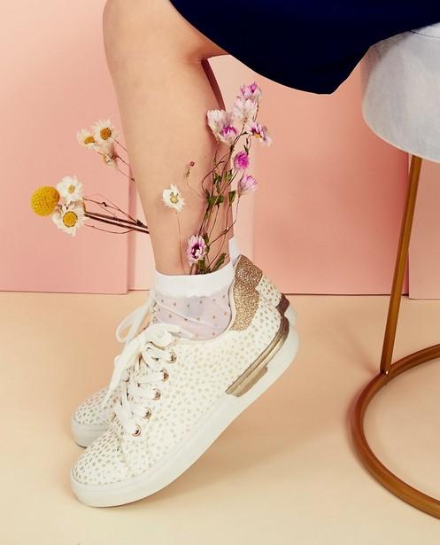 Fines chaussettes Communion - à paillettes, dorées - Milla Star