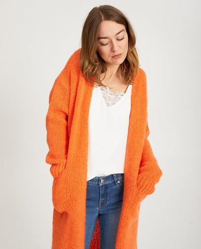 Long cardigan orange vif