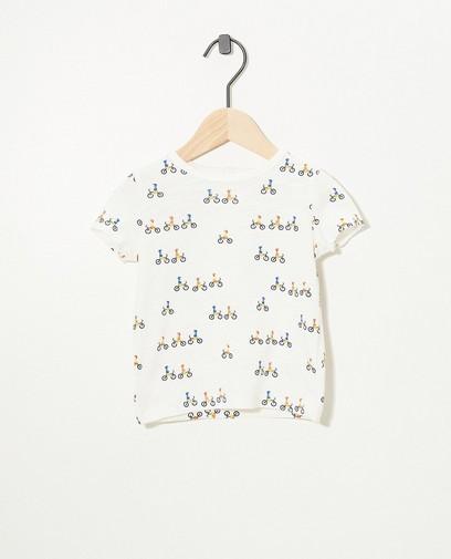 Weißes T-Shirt aus Biobaumwolle