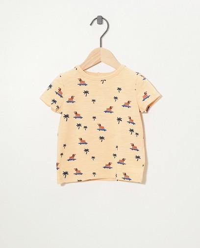 T-shirt brun clair en coton bio