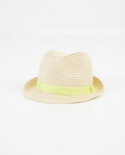 Chapeau jaune avec une bande