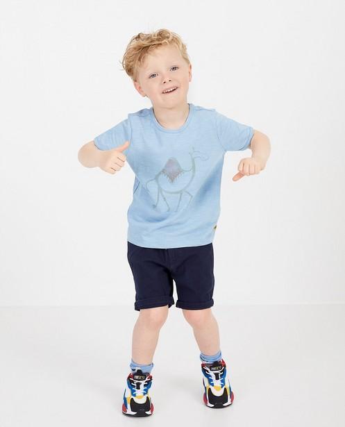 Blauw T-shirt met print Plop - dromedaris - Plop