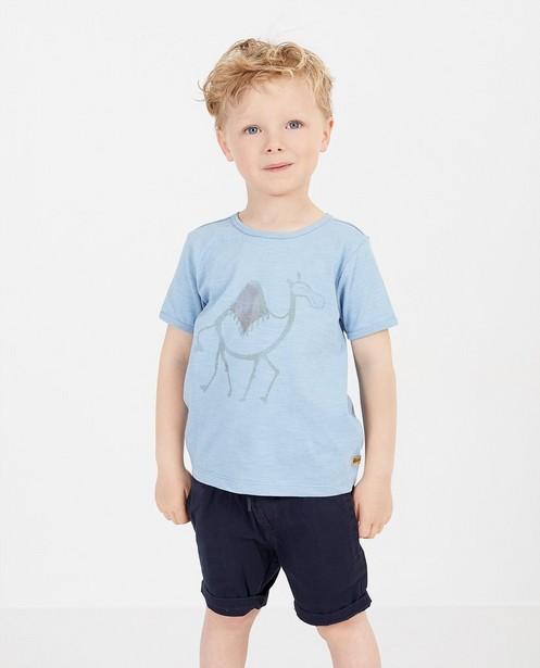T-shirts - Blauw T-shirt met print Plop