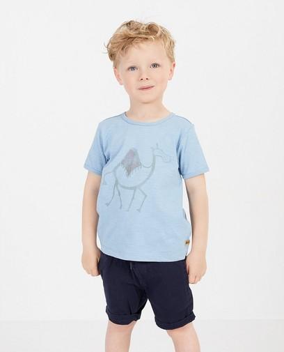 Blauw T-shirt met print Plop