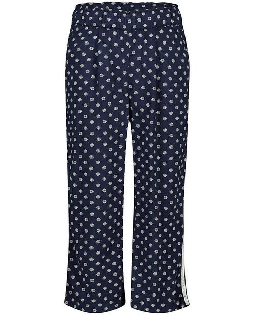 Blauwe broek met print s.Oliver - allover - S. Oliver