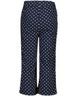 Broeken - Blauwe broek met print s.Oliver