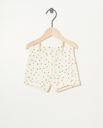 Weiße Shorts aus Biobaumwolle