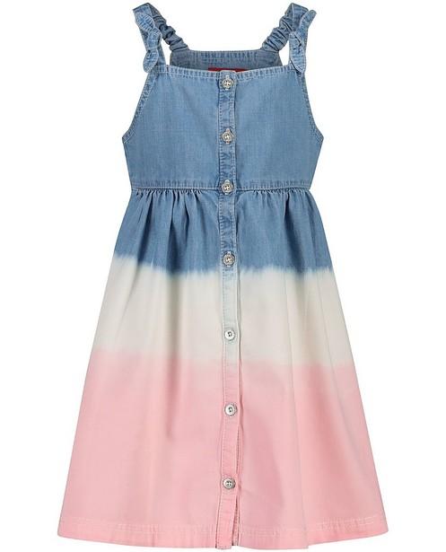 Jurk met tie dye s.Oliver - blauw, wit en roze - S. Oliver