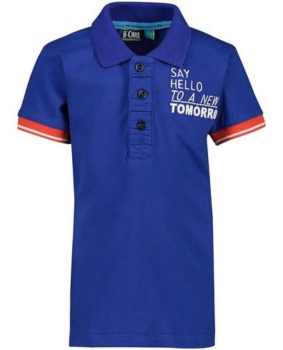 Blaues Poloshirt mit Aufschrift B'Chill