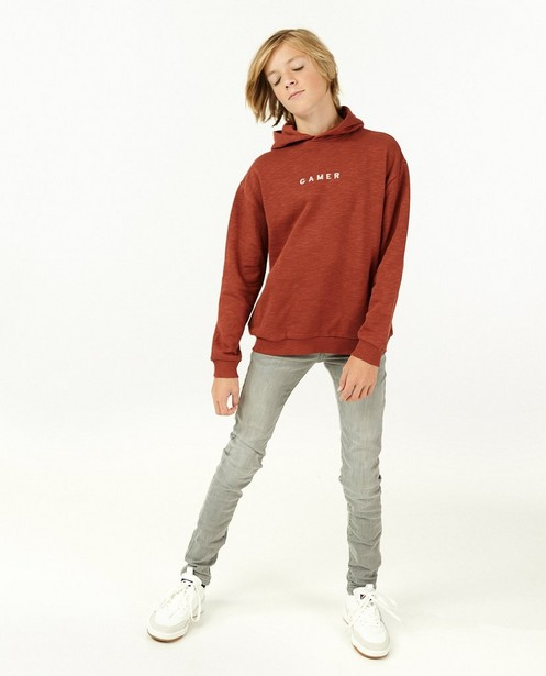 Skinny gris JOEY, 7-14 ans - stretch - JBC