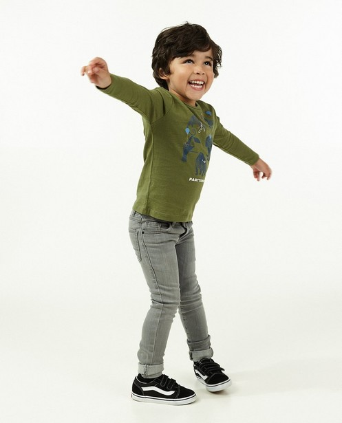 Skinny gris JOEY, 2-7 ans - stretch - JBC