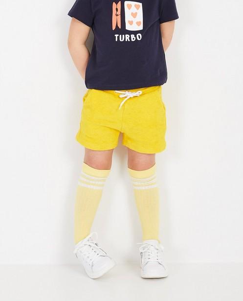 Shorts - Short jaune en éponge BESTies