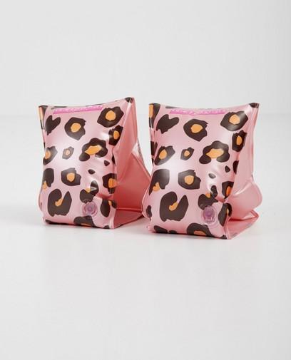 Roze zwembandjes met luipaardprint