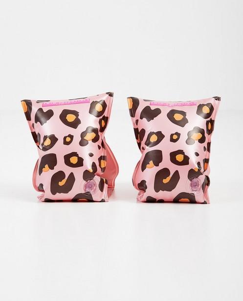 Gadgets - Brassards de natation roses avec motif léopard