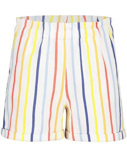 Witte short met strepen