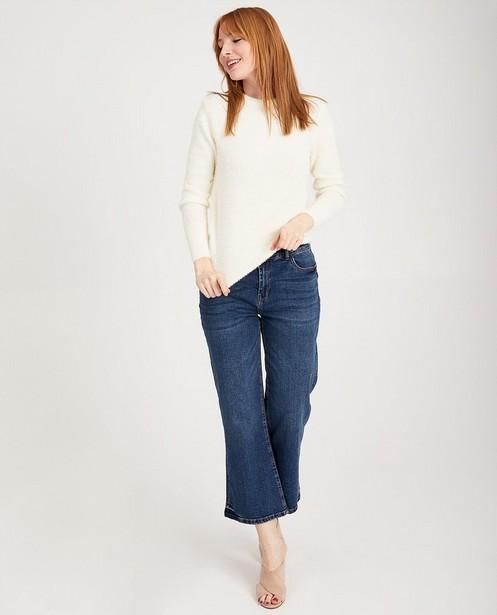 Pull bleu en fin tricot Sora - à longs poils - JBC
