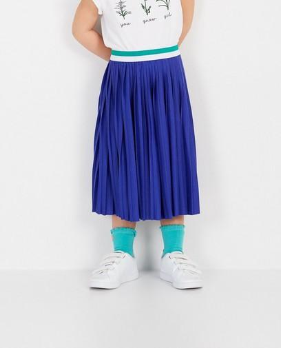 Jupe plissée bleue Heidi