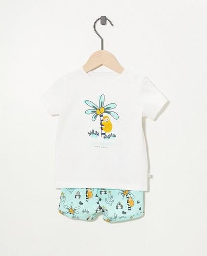 Weißer 2-teiliger Schlafanzug mit Print