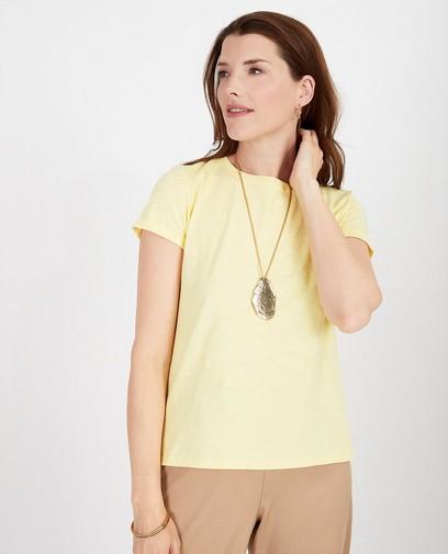 Geel T-shirt met knooplint Youh!