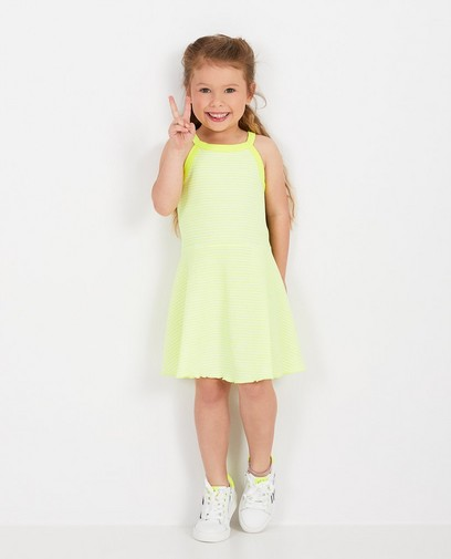 Robe blanche à rayures fluo K3