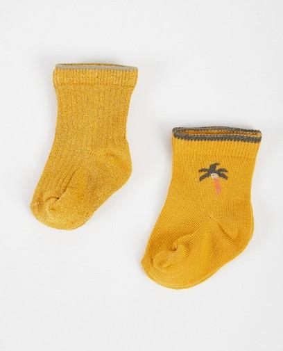 Set von 2 Paar Babystrümpfen in Gelb