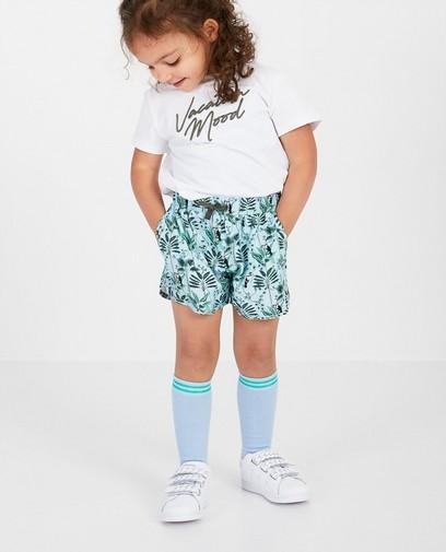 Hellblaue Shorts mit Print