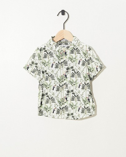 Wit hemdje met print