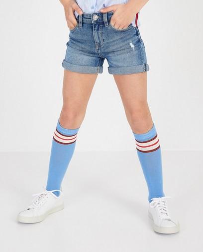 Short en jeans bleu – destroyed