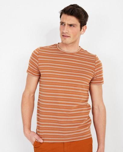 Cognac T-shirt met print