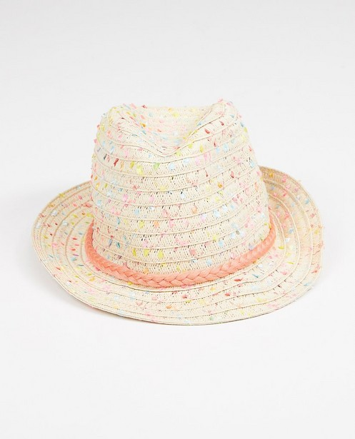 Chapeau avec un ruban rose - tressé - JBC
