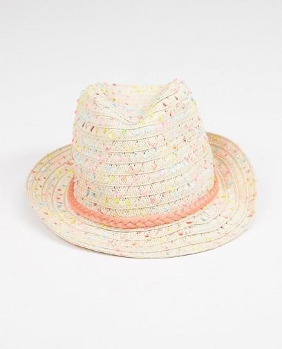 Chapeau avec un ruban rose