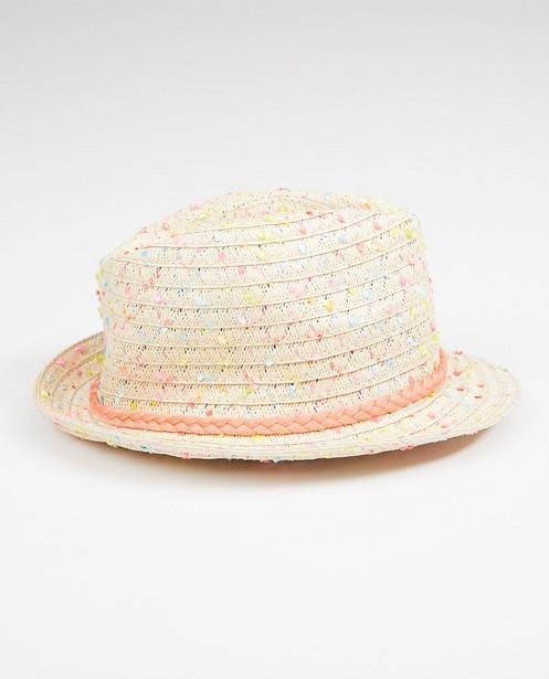 Bonneterie - Chapeau avec un ruban rose