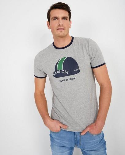 Grijs T-shirt met pet Baptiste (NL)