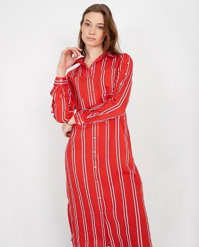 Robe rouge rayée Karen Damen