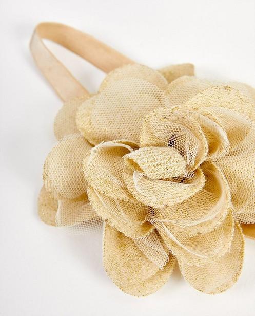 Bonneterie - Bandeau beige, fleur