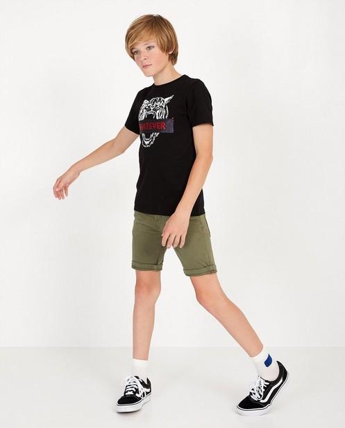 Sweat denim bermuda, 7-14 jaar - in kakigroen - JBC