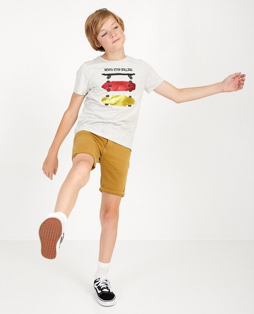 Sweat denim bermuda, 7-14 jaar - in camel - JBC