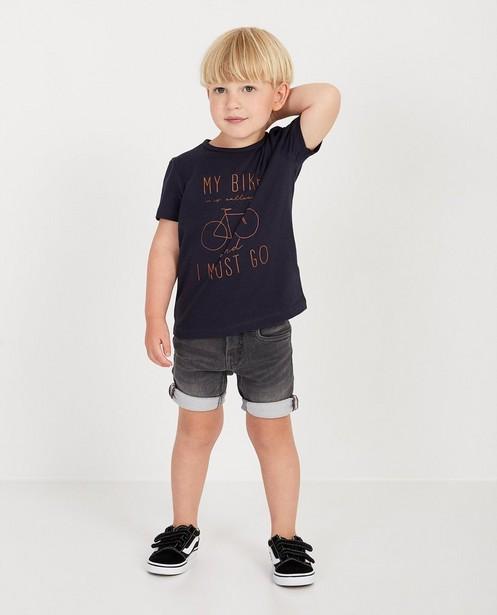 Short en sweat denim Simon, 2-7 ans - en gris - JBC