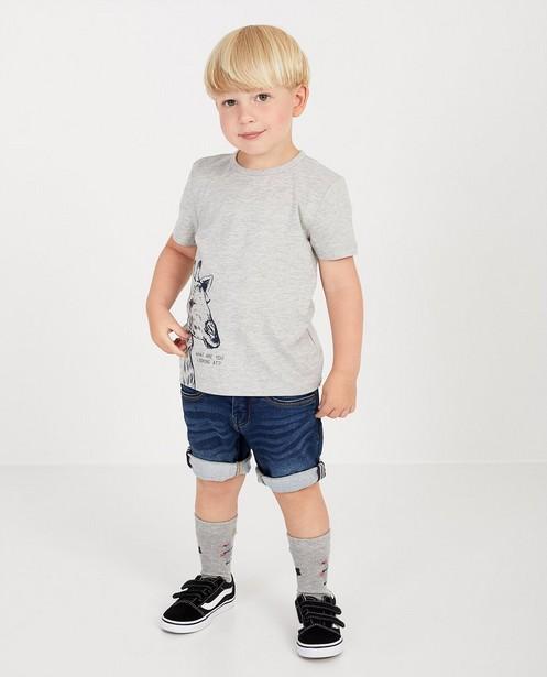 Short en sweat denim Simon, 2-7 ans - en bleu - JBC