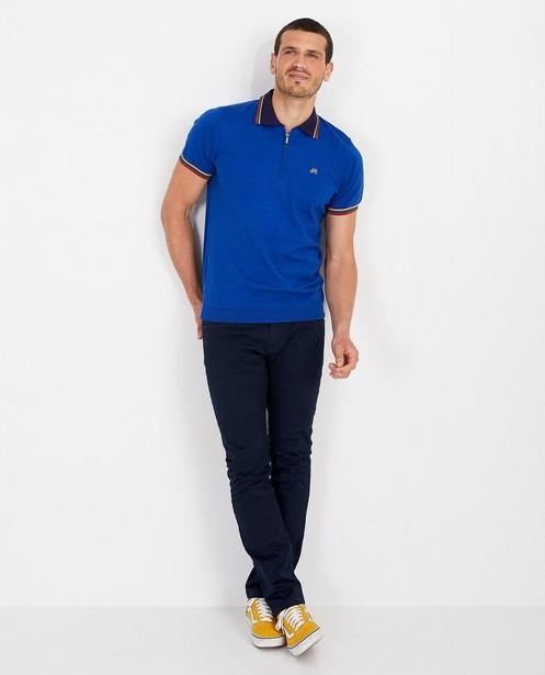 Polo bleu cobalt Baptiste - en fin tricot - Baptiste