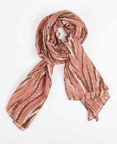 Roze sjaal met print Pieces