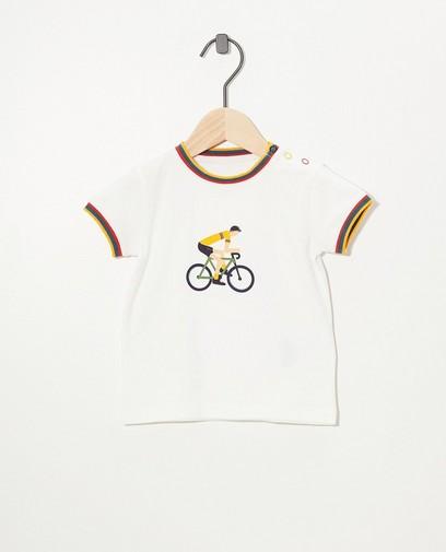 T-shirt blanc, imprimé Baptiste