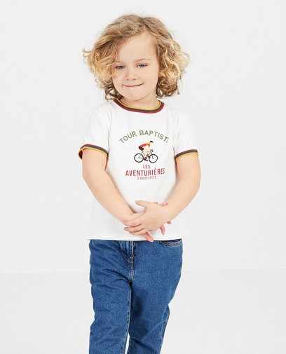 T-shirt blanc Baptiste