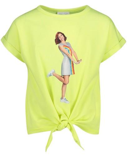 Geel T-shirt met fotoprint K3