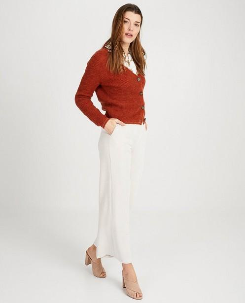 Pantalon blanc Ella Italia - velours côtelé - Ella Italia