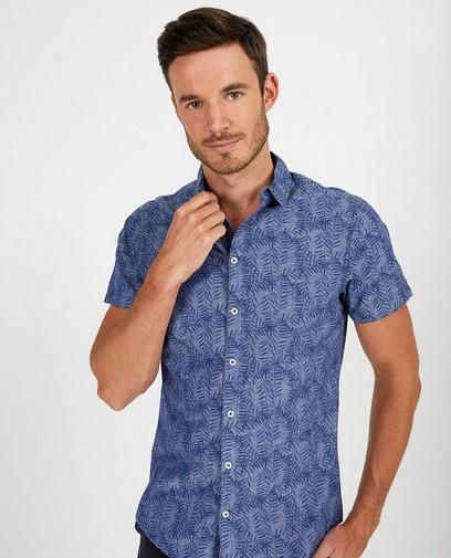 Blauw hemd met print League Danois