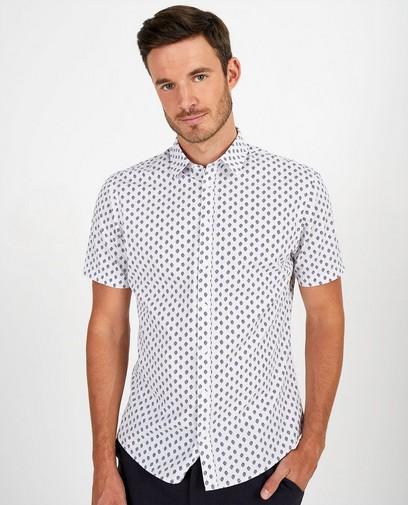 Wit hemd met print League Danois