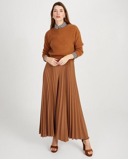 Pantalon plissé brun Ella Italia - jambes très larges - ella