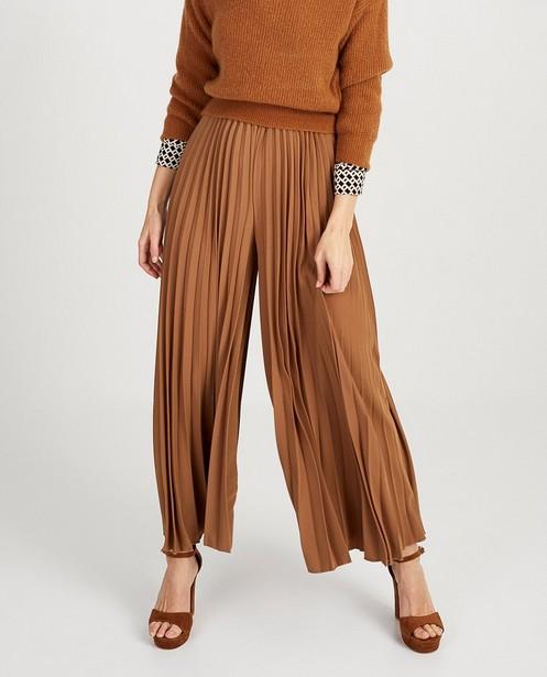 Pantalons - light brown - Pantalon plissé brun Ella Italia
